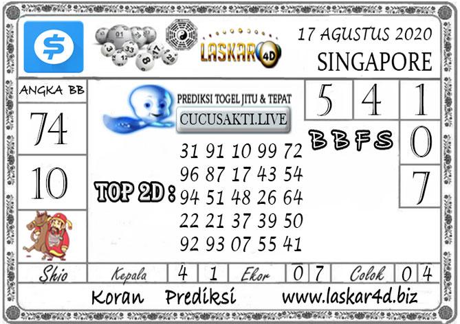 Prediksi Togel SINGAPORE LASKAR4D 17 AGUSTUS 2020