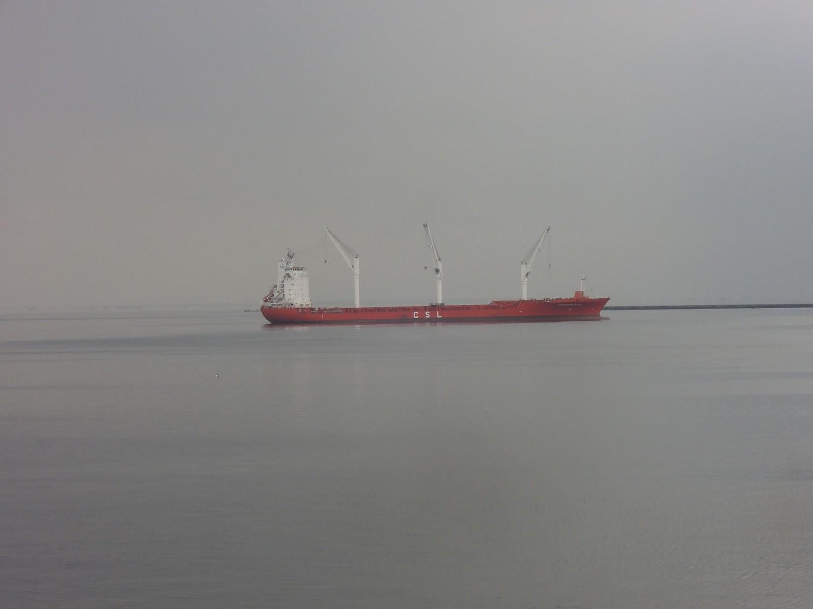 A barge at Manila Bay as seen from Manila Ocean Park