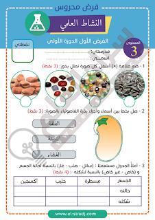 فرض النشاط العلمي للمستوى الثالث - المرحلة الأولى