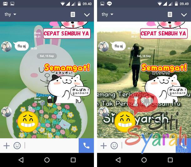 cara mengganti background chat di line android