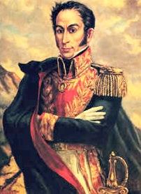 Imagen de Simón Bolivar a color para niños