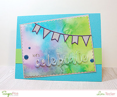 Let's Celebrate card-designed by Lori Tecler/Inking Aloud-stamps and dies from SugarPea Designs