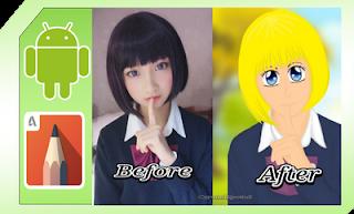 edit foto jadi anime jepang