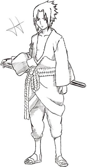 Dibujos Manga Dibujo Encargo De Sasuke