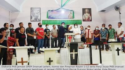 PKB Imanuel Leilem Berdiakonia ke Jemaat GMIM Bukit Moria Gunung Woka