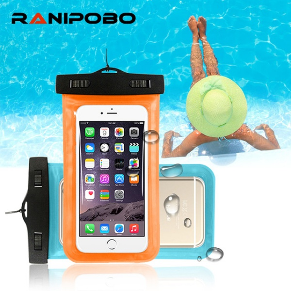 """Universal 4.8""""-6.0"""" Waterproof Pouch Case Cover For Camera Mobile Phone"""