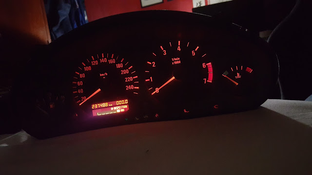 dashboard E36 luces