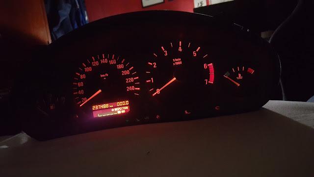 dashboard E36 luces
