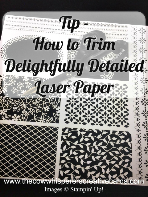 Tip, Delightfully Detailed Laser Cut Paper, Trick, Stampin'UP!