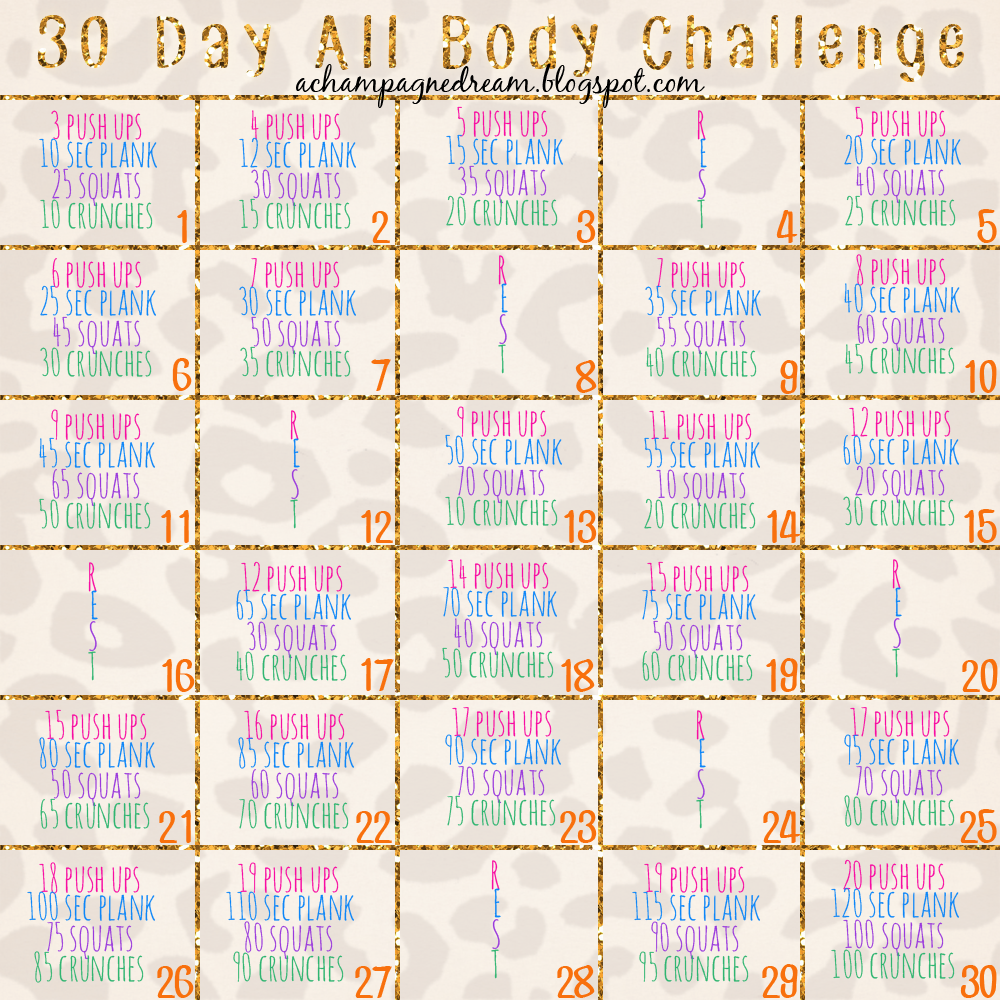 a champagne dream: 30 Day All Body Challenge