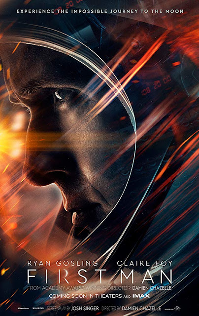 First Man 2018 movie poster Ryan Gosling Claire Foy Damien Chazelle