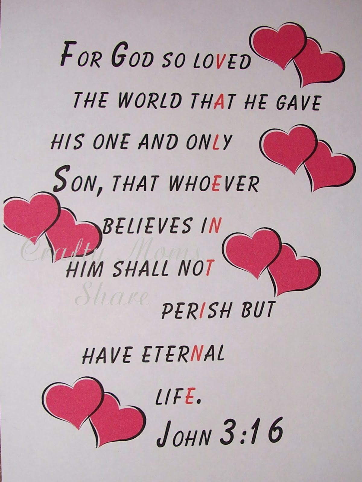 Crafty Moms Share Free Valentine Emphasized Scripture