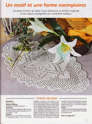 Modèles centre de table au crochet