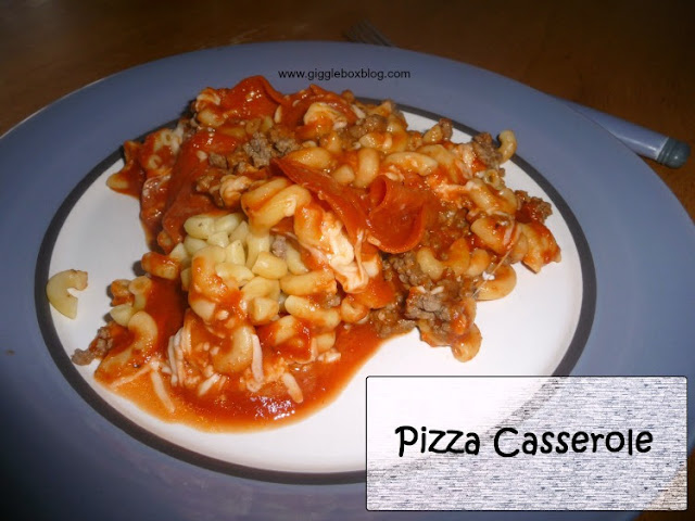 pizza casserole, a simple and cheap pizza alternative,
