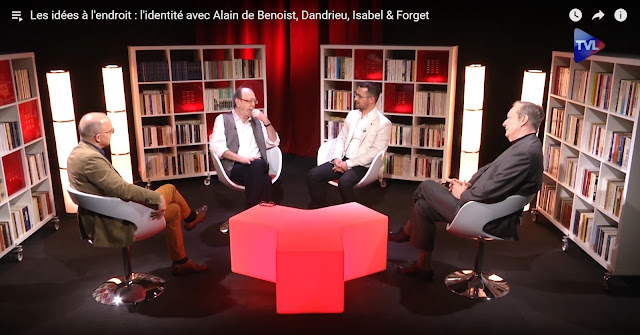 Les idées à l'endroit : l'identité avec Alain de Benoist, Thibault Isabel, Dandrieu et Philippe Forget