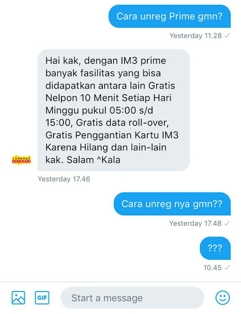 CS IndosatCare Twitter