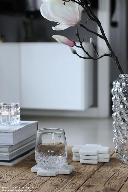 annelies design, webbutik, webbutiker, webshop, nätbutik, inredning, dekoration, inspiration, magnolia, vas, bubbles, vardagsrum, glas, dricksglas,