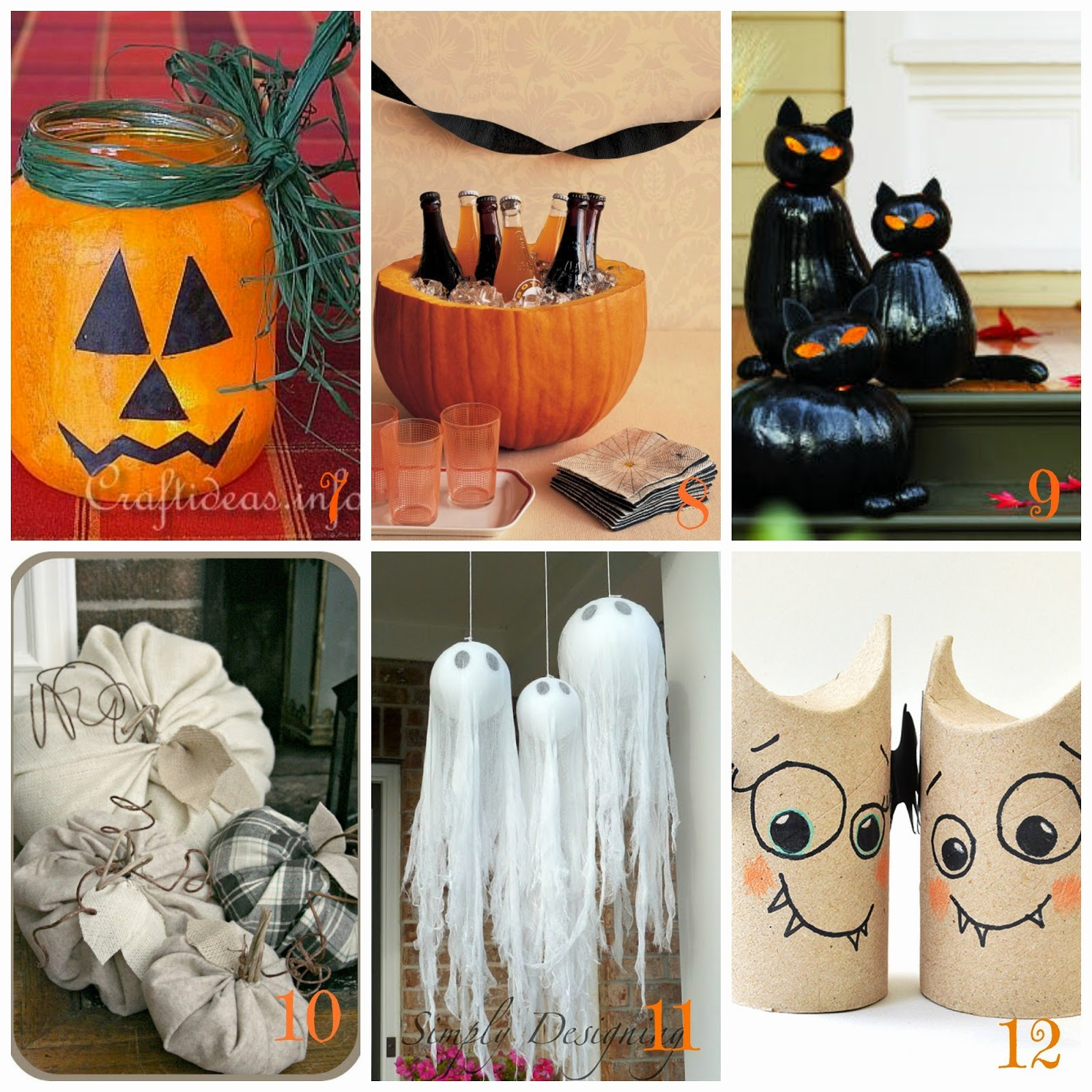 Halloween decorazioni fai da te 12 tutorial facili e - Decorazioni halloween fatte in casa ...