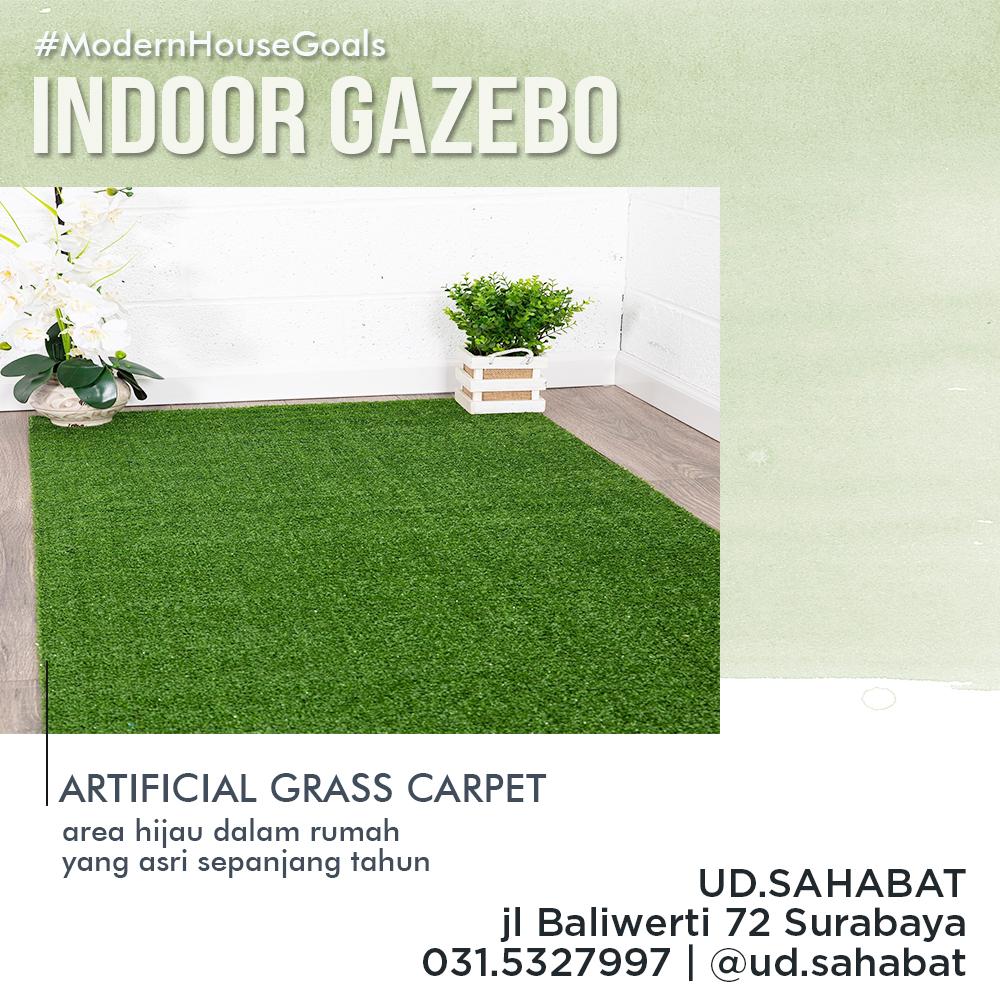jual rumput buatan untuk gazebo ud sahabat surabaya