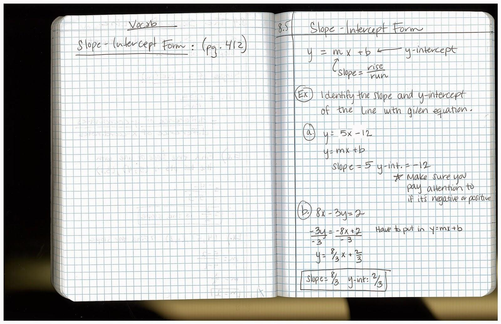 Heidemann 8th Grade Math 7th Period Pre Algebra 4 27