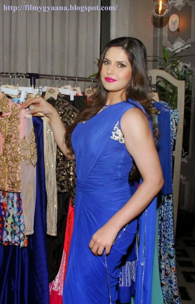 Zarine Khan Blue Sarees Photo
