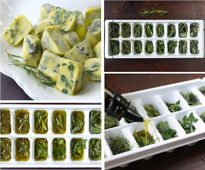Como congelar y preservar hierbas frescas en aceite de oliva