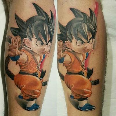 Tatuajes de Dragon Ball : Tatuaje de Goku