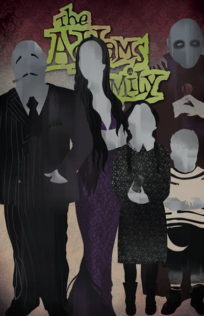 i am eugene song  addams family poster design