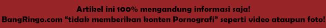 BangRingo.com tidak memberikan konten Pornografi