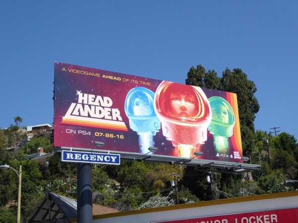 Headlander Adult Swim game billboard