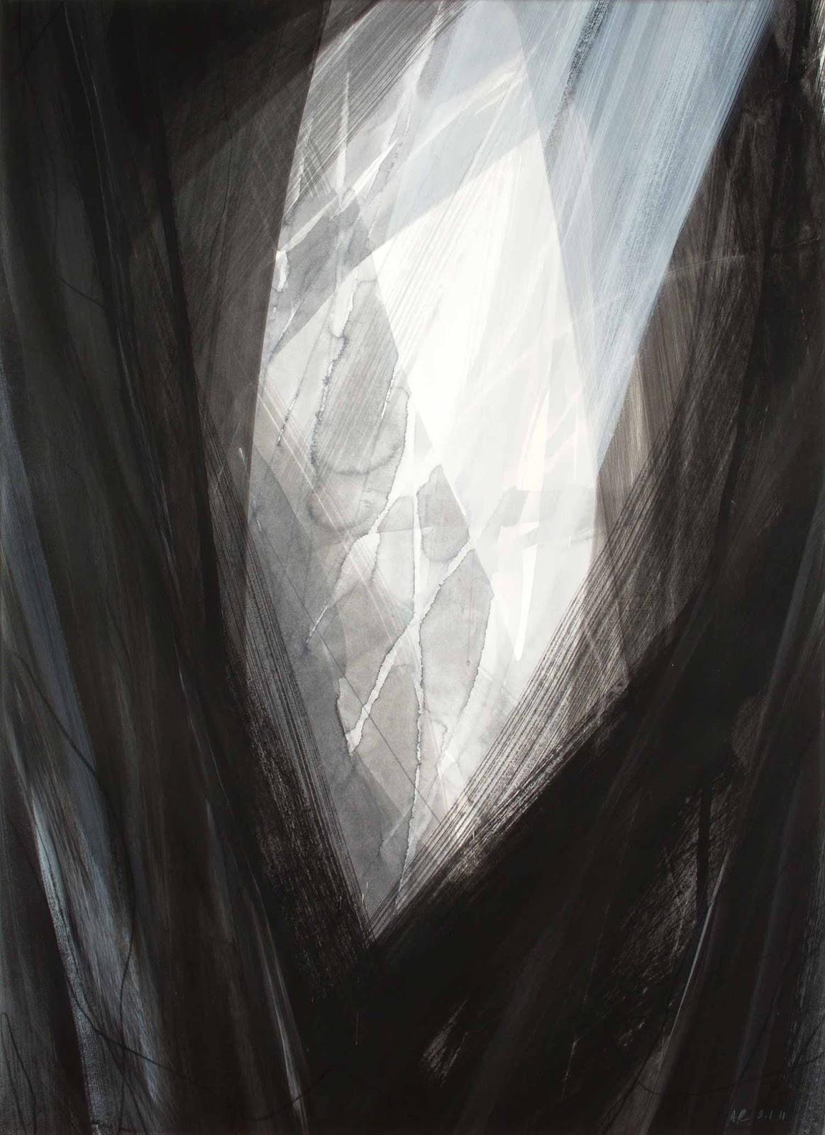 Grand format, 80 x 120 cm, techniques mixtes sur papier marouflé sur toile