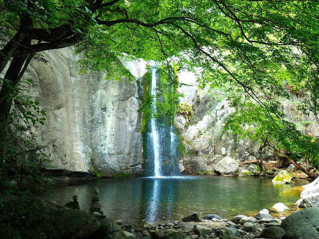 Guseong waterfall, near Cheongpyeongsa temple outside Chuncheon, South Korea