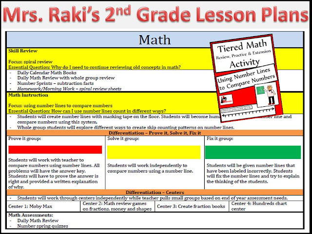 2nd Grade Lesson plans for reading, phonics, writing and math - from Heidi Raki of Raki's Rad Resources