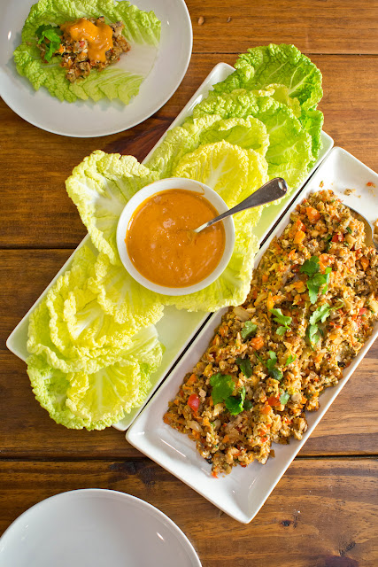Veggie-Packed Napa Cabbage Wraps with Spicy Peanut Sauce