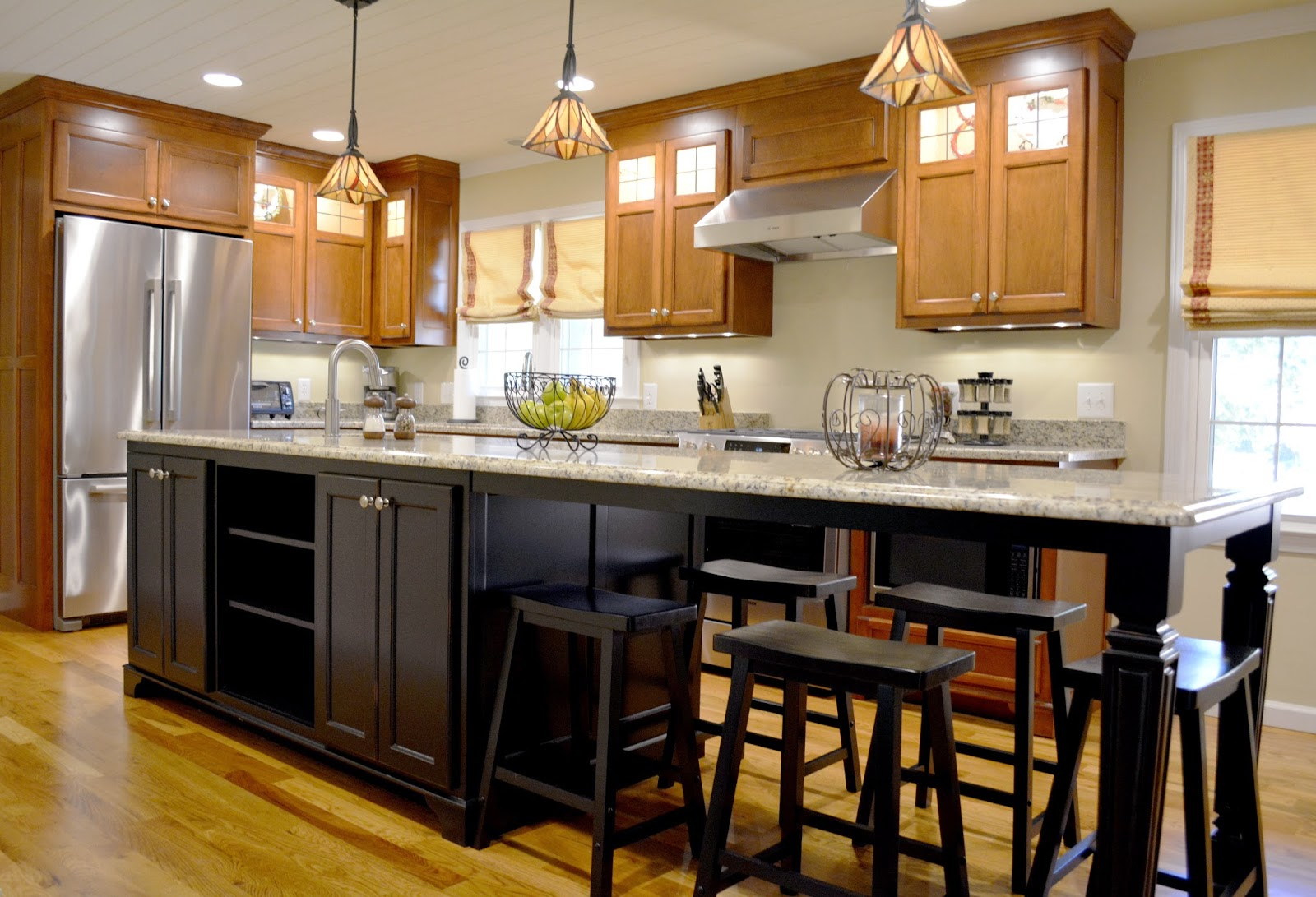 From dark to dreamy a modest kitchen makeover with bold - Kitchen island with seating for 6 ...