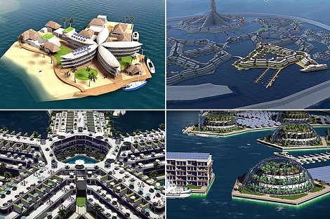 World's First 'Floating City' Is Taking Shape In The Pacific Ocean  & Could Be Opened For Business By 2020 [Photos]