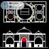 مخطط بسيط لواجهة مسجد اوتوكاد dwg