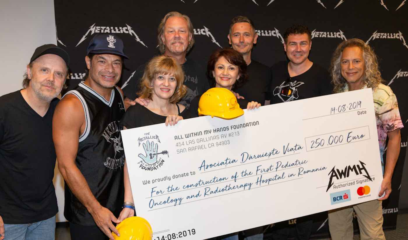 Metallica To Donate $277,000 To Help Build Romania's First Children's Hospital Of Its Kind