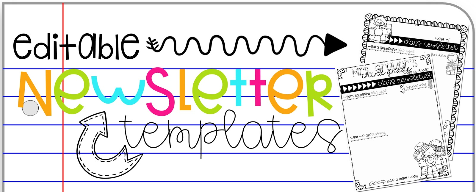 Classroom newsletter templates cute topsimages the school year is quickly approaching and pretty soon friday afternoons will be filled with class maxwellsz