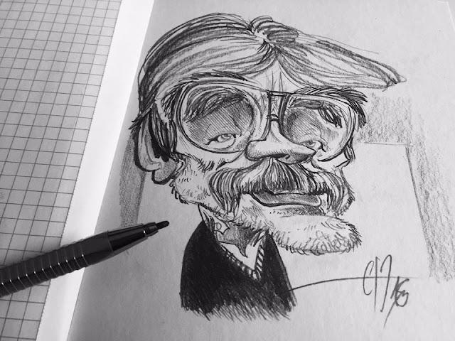 Carlos Nine, Grand dessinateur !!! Croquis rapide ©Guillaume Néel