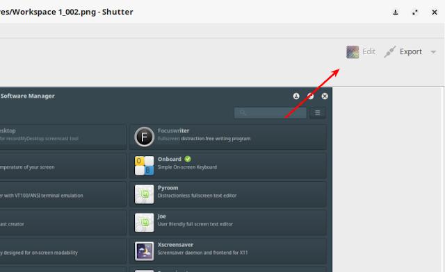 Cara Memperbaiki Tombol Edt Shutter Tidak Berfungsi di Linux Mint