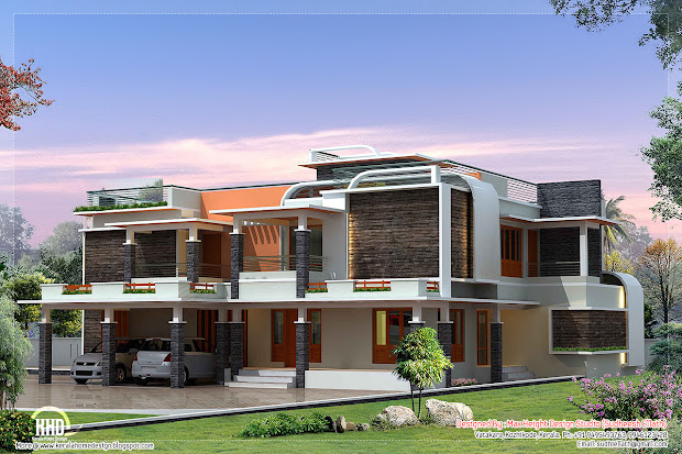 Unique Modern Villa Design Kerala Homes