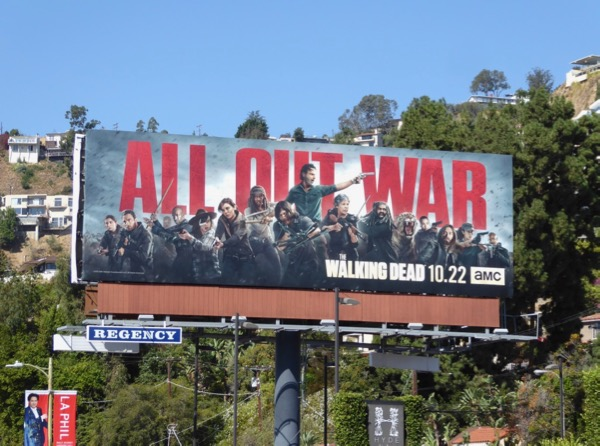 Walking Dead all out war billboard
