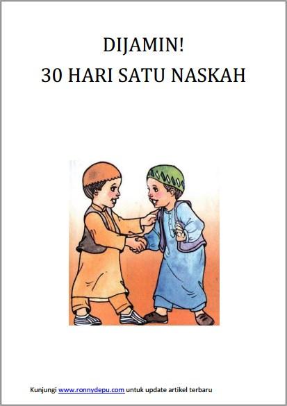 Ebook DIJAMIN 30 Hari Satu Naskah