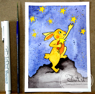 Reach For The Stars Bunny Inktense Watercolor