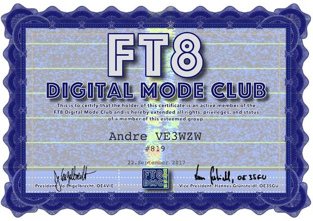 FT8 - VA3AGV VE3SP Amateur Radio Toronto Canada