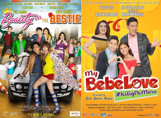 MMFF 2015 Update: 'My Bebe Love,' 'Beauty and the Bestie' lead box-office race (Day 3)