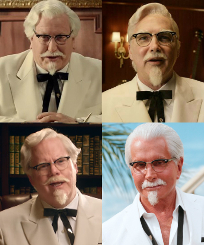 The many faces of Colonel Sanders