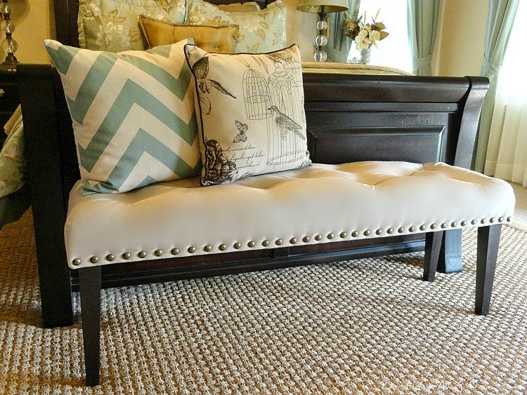 Home Away From Home - Dropcloth bench
