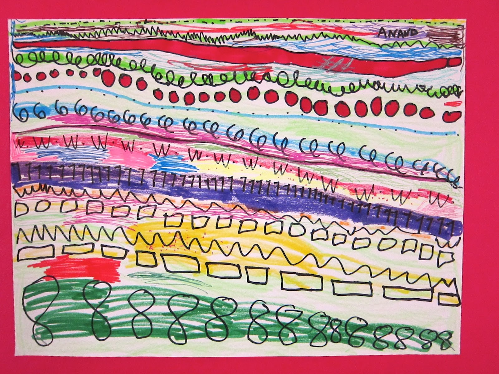 Art is Basic-- Art Teacher Blog: Kindergarten Line Drawings